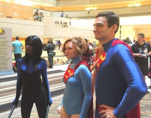 Superman, Supergirl, Nightwing at DragonCon Atlanta