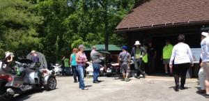 Meeting folks @ Lamonster's BBQ