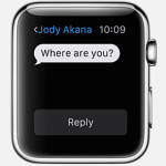 Text messaging with your Apple Watch